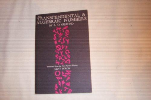 9781114172623: Transcendental & Algebraic Numbers