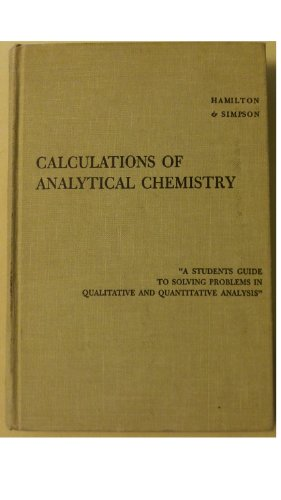 9781114173699: Calculations of Analytical Chemistry