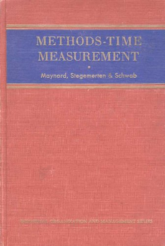 9781114202863: Methods-time measurement, (McGraw-Hill industrial organization and management series)