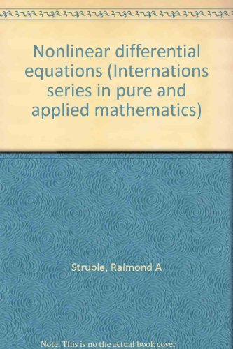 9781114223912: Nonlinear differential equations (Internations series in pure and applied mathematics)