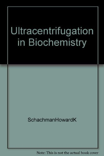 9781114263758: Ultracentrifugation in biochemistry