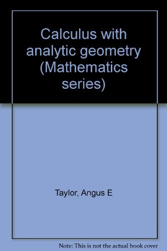 9781114264434: Calculus with Analytic Geometry