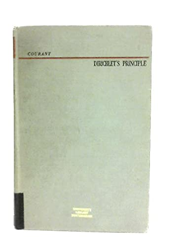 9781114325777: Dirichlet's principle, conformal mapping, and minimal surfaces (Pure and applied mathematics)