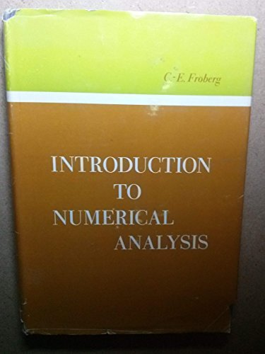 9781114329898: Introduction to Numerical Analysis