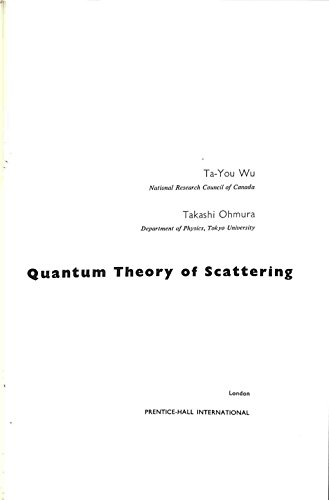 9781114336186: QUANTUM THEORY OF SCATTERING [Gebundene Ausgabe] by TA-YOU WU