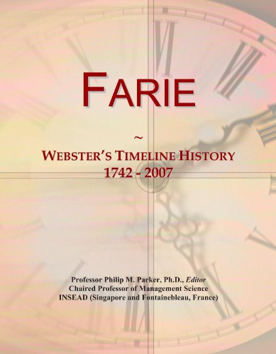 9781114392953: Farie: Webster's Timeline History, 1742 - 2007