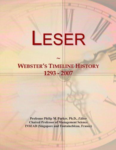 9781114421103: Leser: Webster's Timeline History, 1293 - 2007