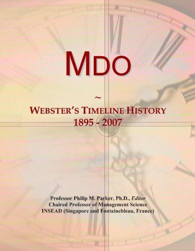 9781114424845: Mdo: Webster's Timeline History, 1895 - 2007