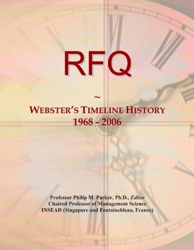 9781114435285: RFQ: Webster's Timeline History, 1968 - 2006