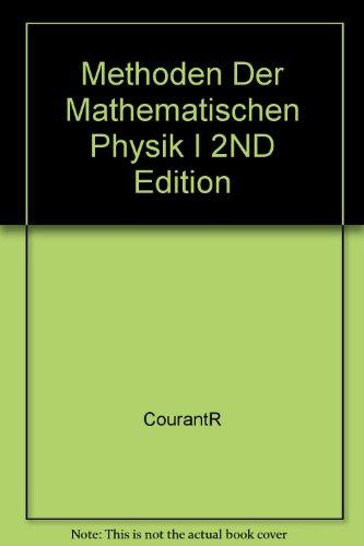 9781114591417: Methoden Der Mathematischen Physik I 2ND Edition