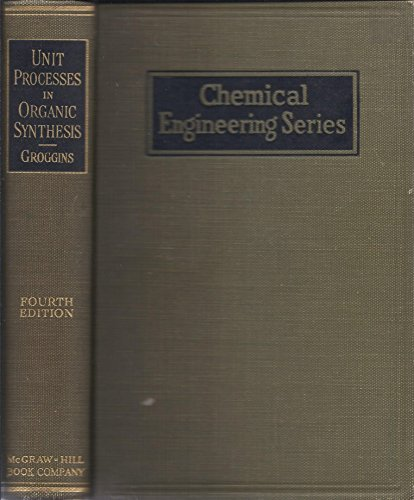9781114762022: Unit Processes in Organic Synthesis