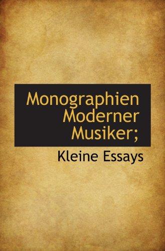 9781115068222: Monographien Moderner Musiker;