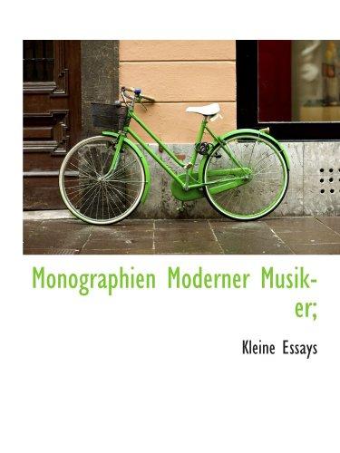 9781115068253: Monographien Moderner Musiker;