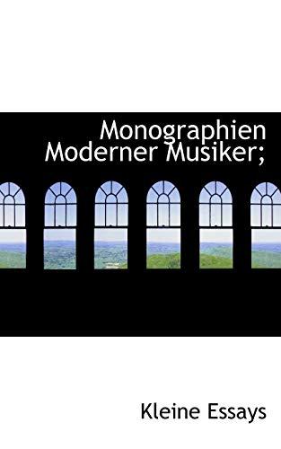 9781115068260: Monographien Moderner Musiker;