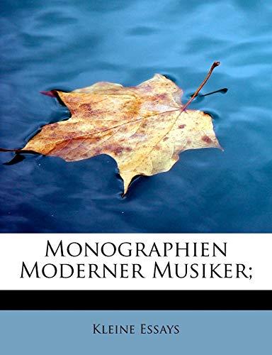 9781115068284: Monographien Moderner Musiker;