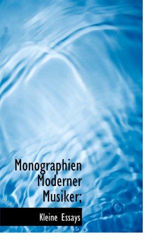 9781115068321: Monographien Moderner Musiker;