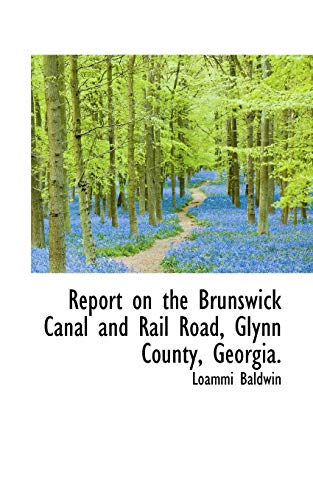 Report on the Brunswick Canal and Rail Road, Glynn County, Georgia.: Baldwin, Loammi