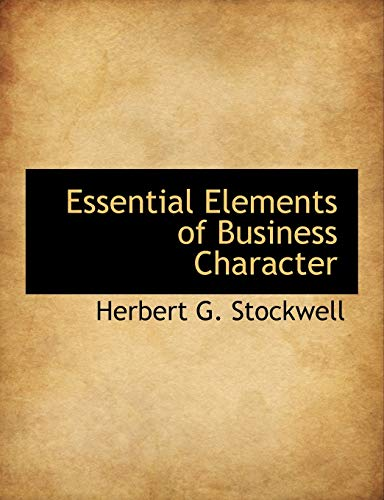 9781115187145: Essential Elements of Business Character