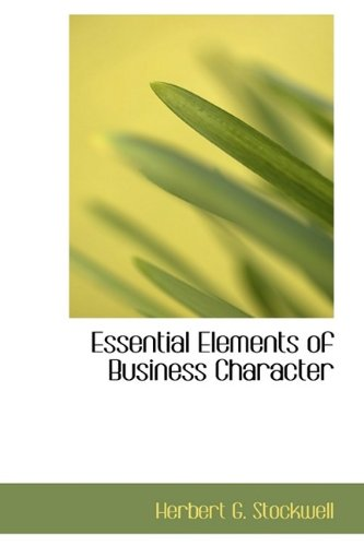 9781115187176: Essential Elements of Business Character