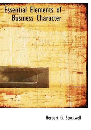 9781115187183: Essential Elements of Business Character