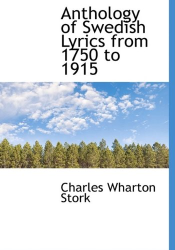9781115221795: Anthology of Swedish Lyrics from 1750 to 1915