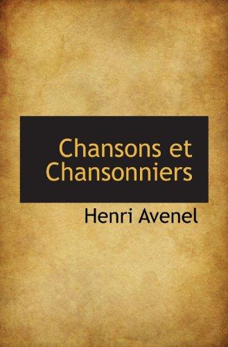 9781115241007: Chansons et Chansonniers