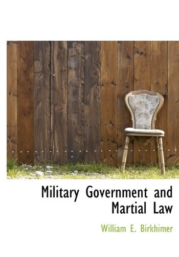 9781115336321: Military Government and Martial Law