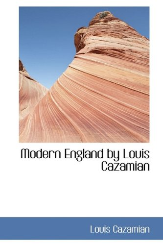 9781115341202: Modern England by Louis Cazamian