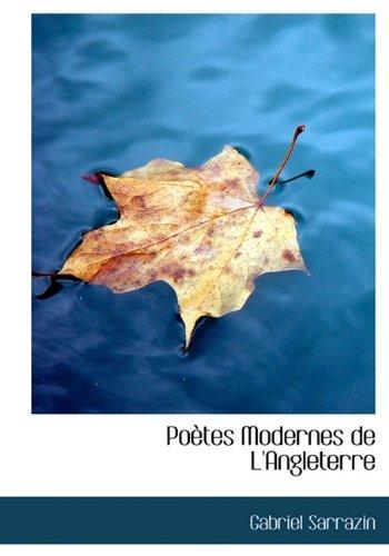 9781115361545: Poètes Modernes de L'Angleterre