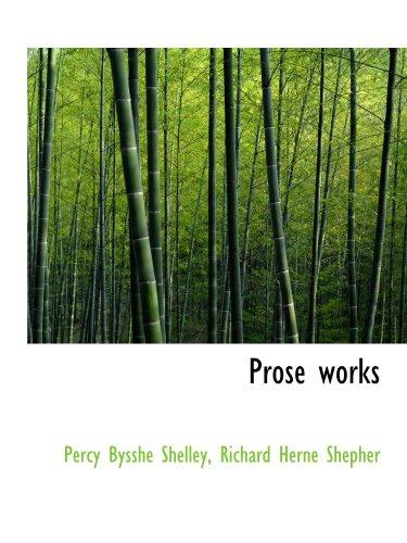9781115372794: Prose works