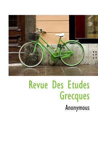 9781115397919: Revue Des Etudes Grecques