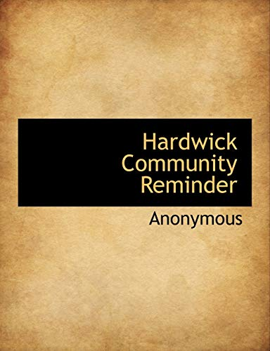 9781115579797: Hardwick Community Reminder