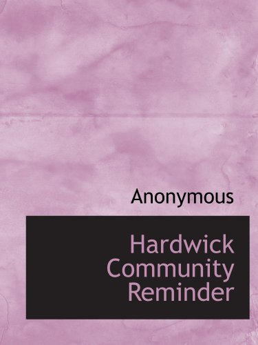 9781115579810: Hardwick Community Reminder