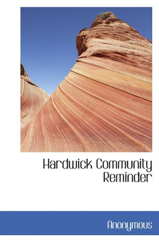 9781115579827: Hardwick Community Reminder