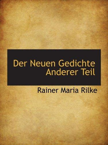 9781115688635: Der Neuen Gedichte Anderer Teil