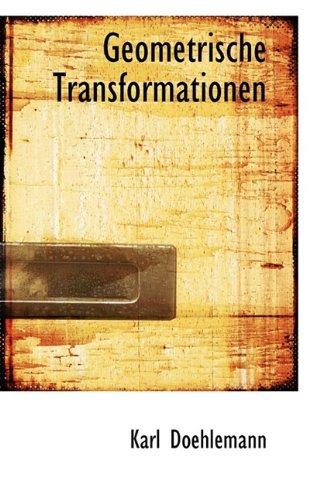 9781115766852: Geometrische Transformationen