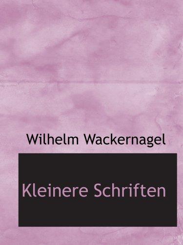 9781115863001: Kleinere Schriften (German Edition)