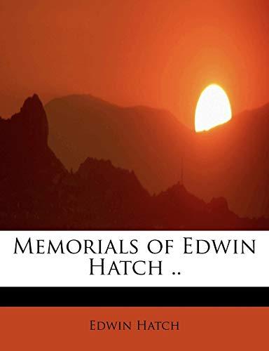 9781115952279: Memorials of Edwin Hatch ..