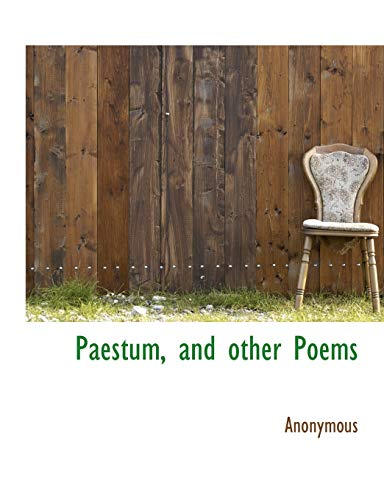 9781115977616: Paestum, and other Poems