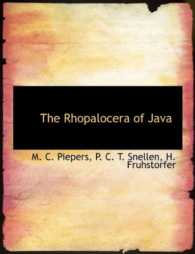 9781116103649: The Rhopalocera of Java