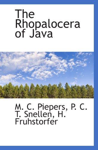 9781116103687: The Rhopalocera of Java