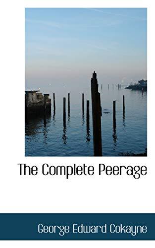 9781116195125: The Complete Peerage