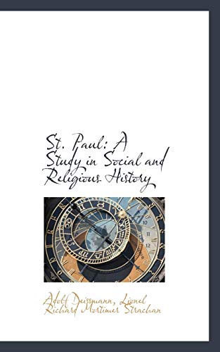9781116198096: St. Paul: A Study in Social and Religious History