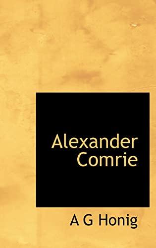9781116291384: Alexander Comrie (Dutch Edition)