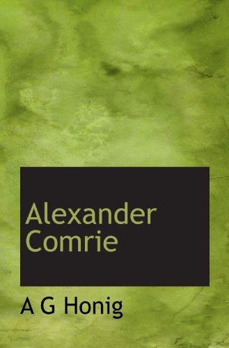 9781116291421: Alexander Comrie (Dutch Edition)