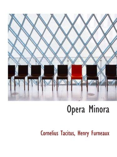 9781116385045: Opera Minora (Latin Edition)
