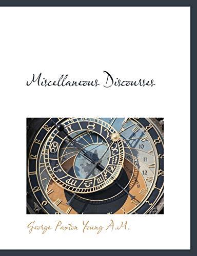 9781116386820: Miscellaneous Discourses