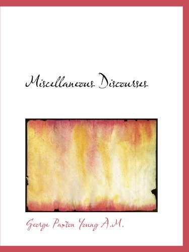 9781116386844: Miscellaneous Discourses