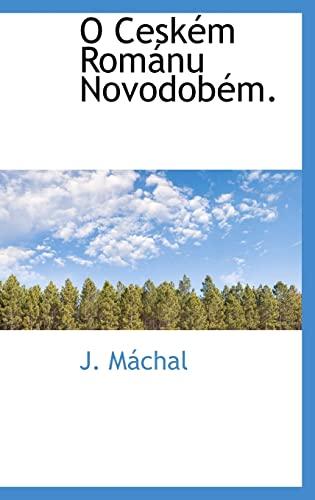 9781116421118: O Ceském Románu Novodobém.