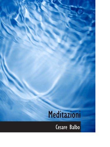 9781116544541: Meditazioni (Italian Edition)